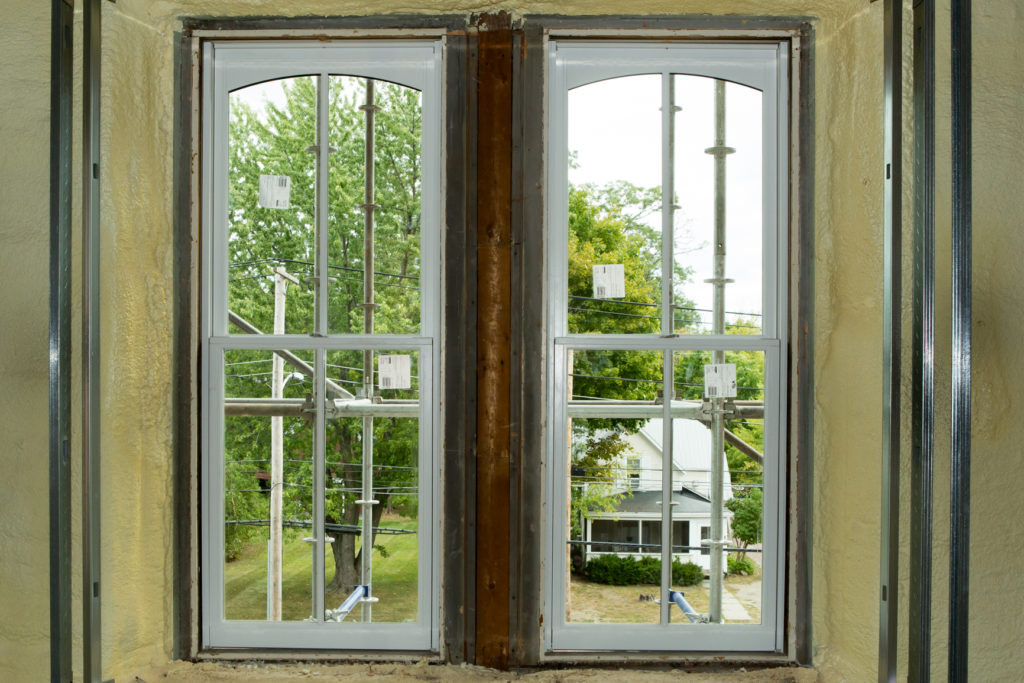 Our Work - Detail of the fitting and installation of Sierra Pacific Windows