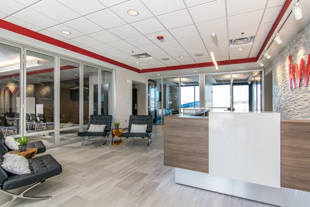 Our Work - Keller Williams's reception installation