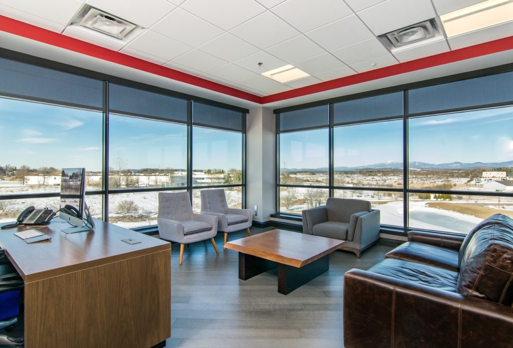 Our Work - Sweeping views allow ample light to this waiting area