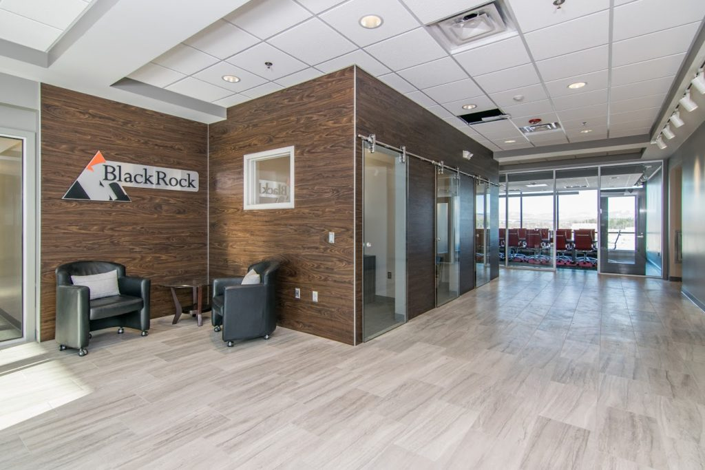 Our Work - an example of interior storefront glass creates a modern work space