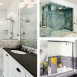 Residential installation of custom shower enclosures