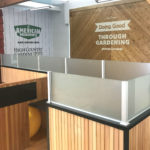 Glass install provides work space privacy at American Meadows