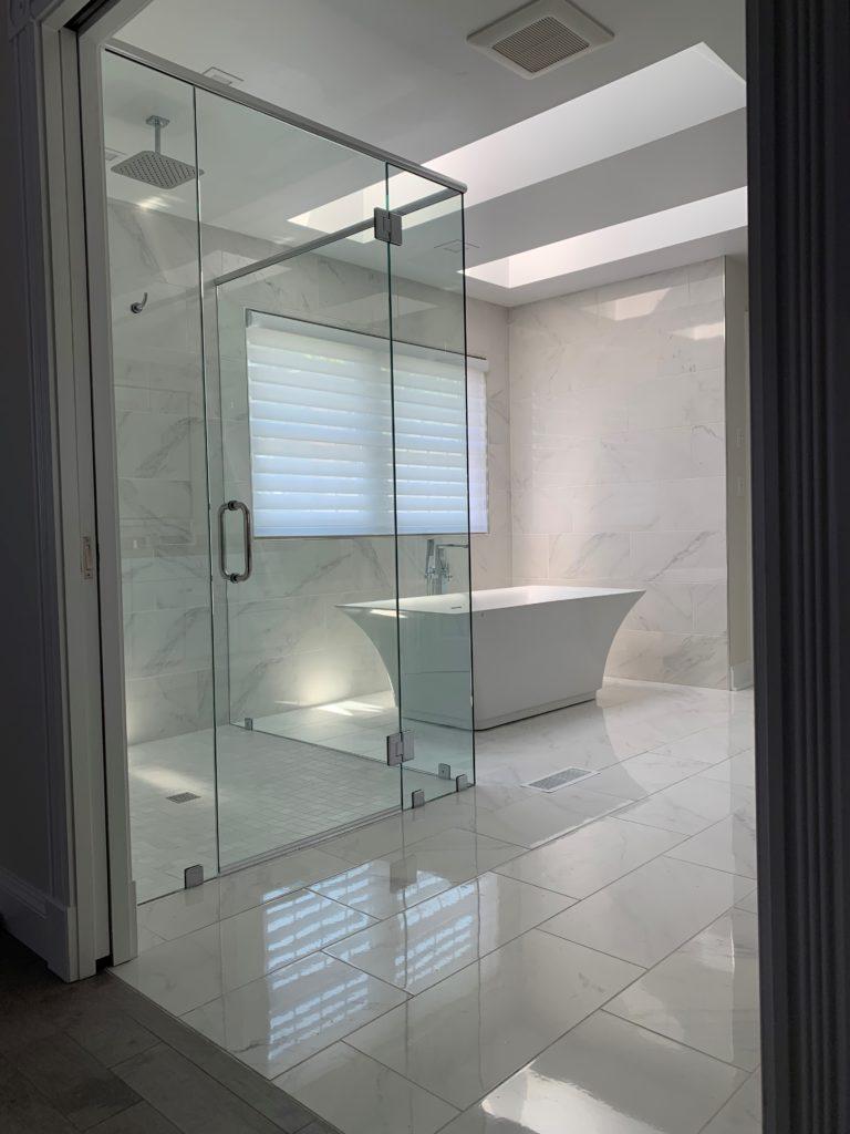 View of master bath from doorway