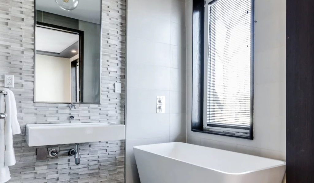 Bathroom with Stone Accent