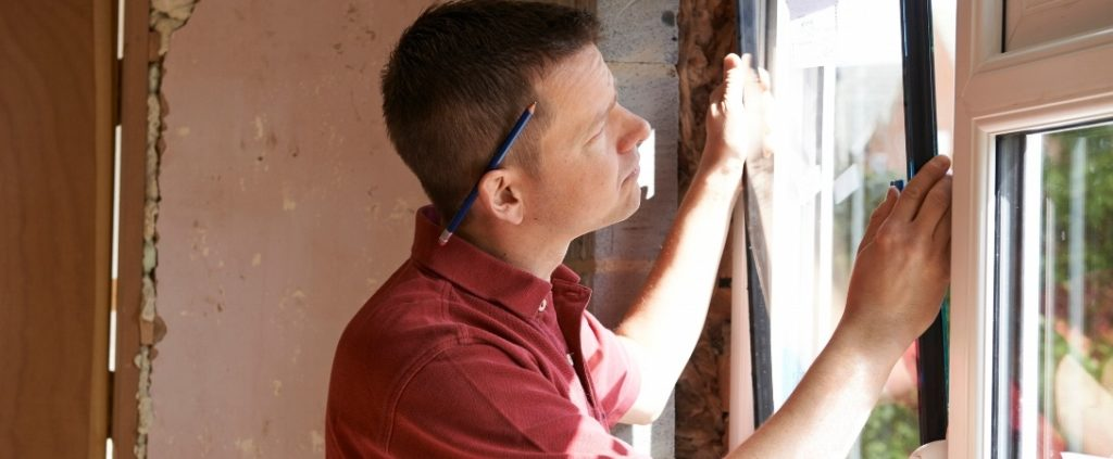 window fitter fitting a window