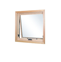 Example of an awning or hopper window, hinged opening