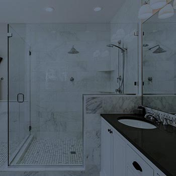 Custom shower enclosure in a home