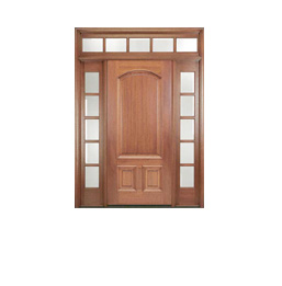 Example of wood or wood clad front or entry door