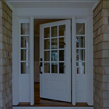 New construction entryway doors, with sidelights