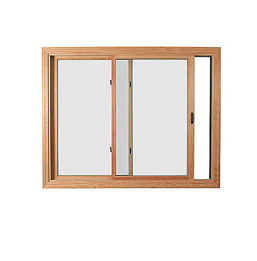 Example of slider or glider windows, panes move horizontally to open