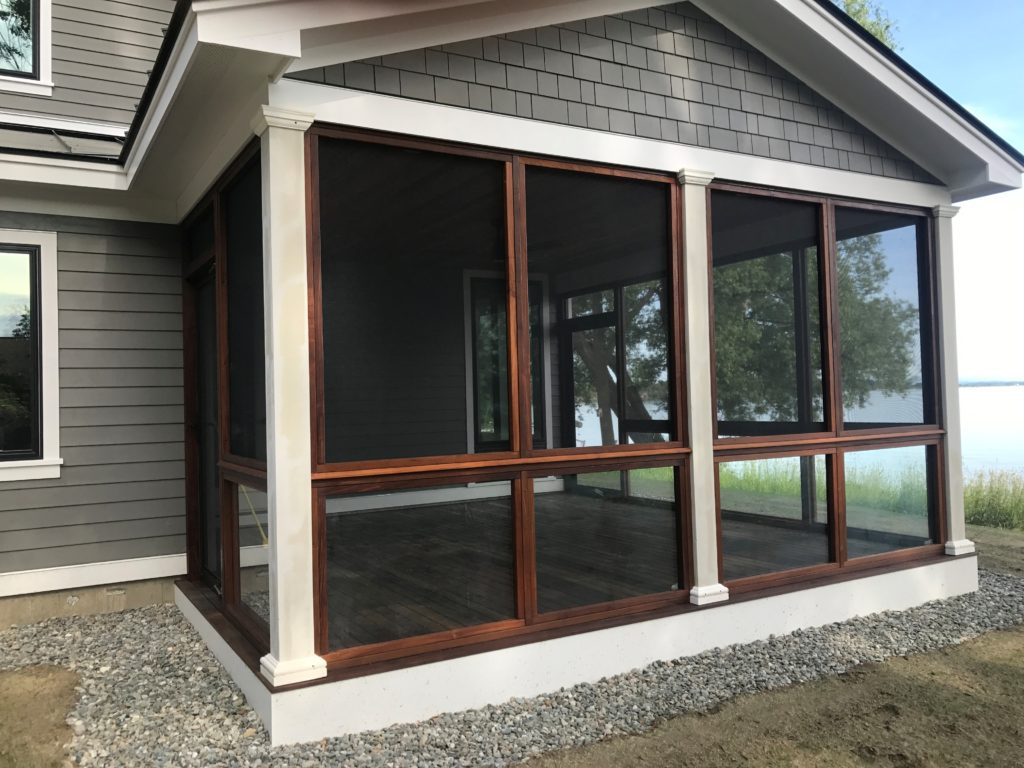 This screened in sunroom or porch opens up new enjoyable areas in your home