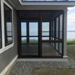 Side view of the screened in porch or sunroom