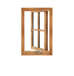 Example of a wood casement window
